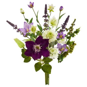 16 Mixed Artificial Flower Bouquet Set of 4 - SKU #2295-S4