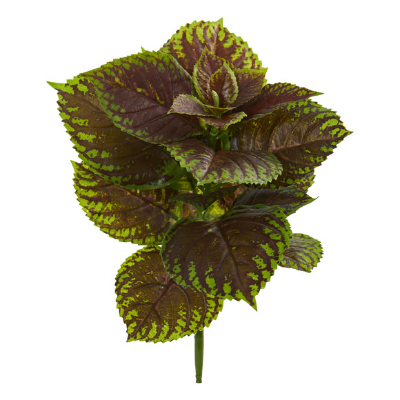 16 Coleus Bush Artificial Plant Real Touch Set of 8 - SKU #2296-S8