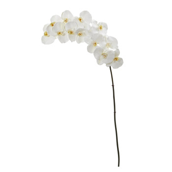 44 Phalaenopsis Orchid Artificial Flower Set of 3 - SKU #2326-S3-WH
