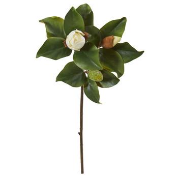 30 Magnolia Artificial Flower Set of 4 - SKU #2336-S4-WH