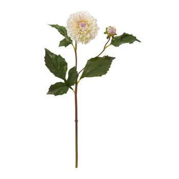 19 Dahlia Artificial Flower Set of 6 - SKU #2337-S6