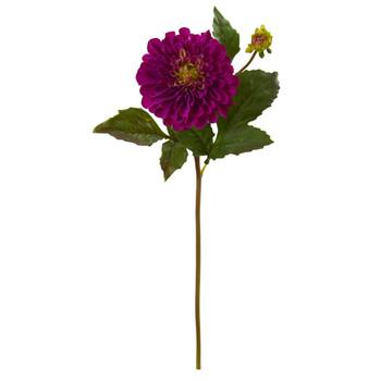 20 Dahlia Artificial Flower Set of 6 - SKU #2338-S6