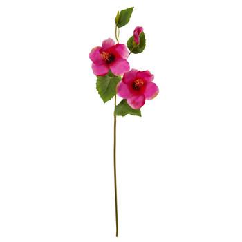 28 Hibiscus Artificial Flower Set of 12 - SKU #2342-S12
