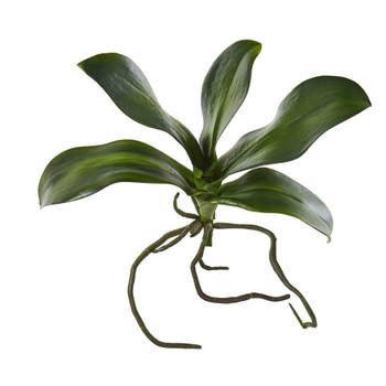 9 Phalaenopsis Orchid Leaf Artificial Flower Set of 6 - SKU #2344-S6