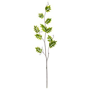 4 Wisteria Foliage Artificial Flower Set of 6 - SKU #2352-S6-GR