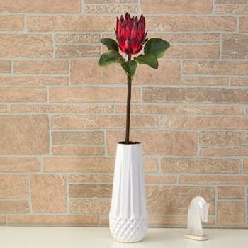 23 King Protea Artificial Flower Set of 4 - SKU #2356-S4