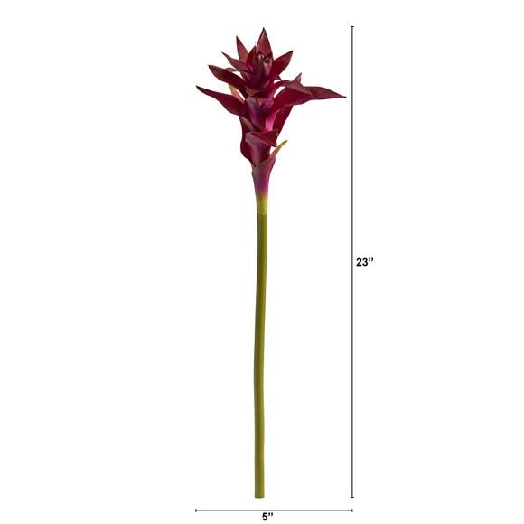 23 Star Bromeliad Artificial Flower Set of 6 - SKU #2361-S6 - 2
