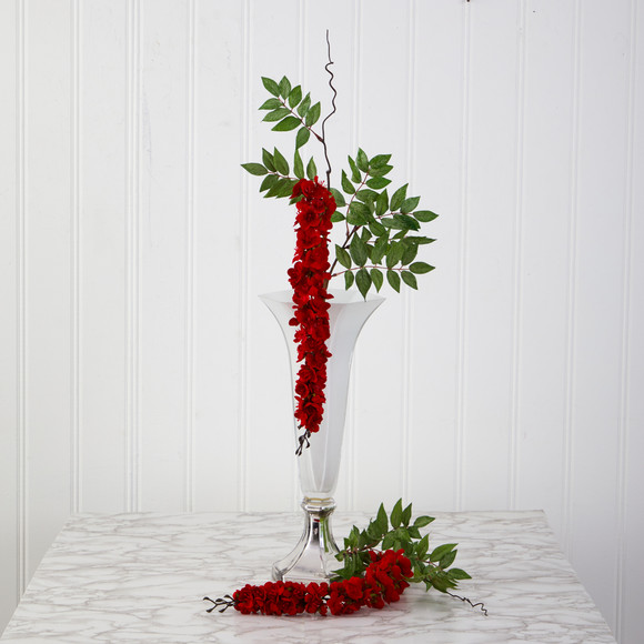 28 Wisteria Artificial Flower Set of 8 - SKU #2369-S8 - 2