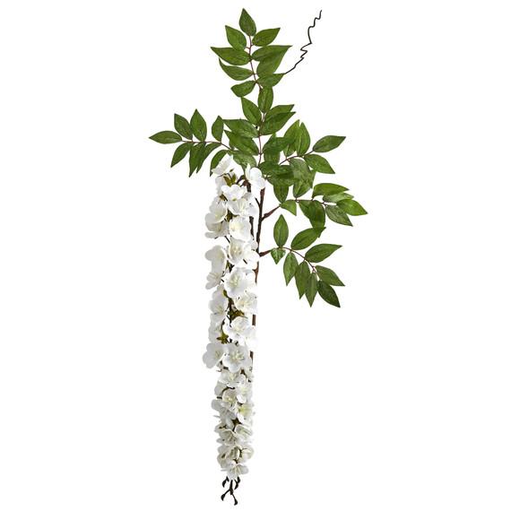 28 Wisteria Artificial Flower Set of 8 - SKU #2369-S8 - 3