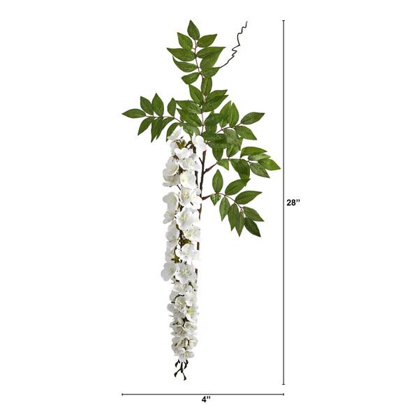 28 Wisteria Artificial Flower Set of 8 - SKU #2369-S8 - 4