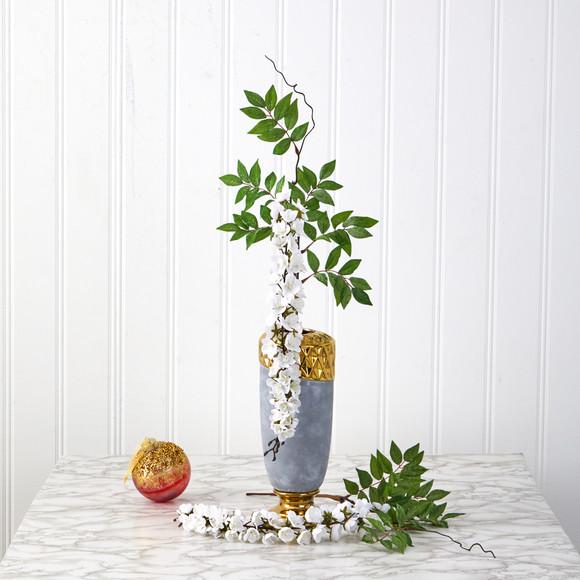 28 Wisteria Artificial Flower Set of 8 - SKU #2369-S8 - 5
