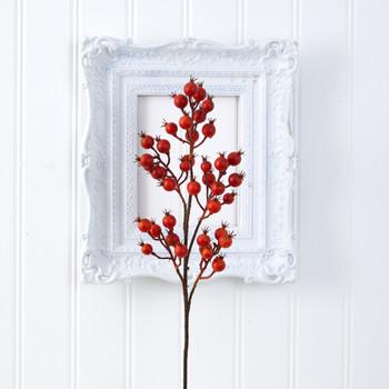 27 Berry Artificial Flower Set of 6 - SKU #2371-S6-OG