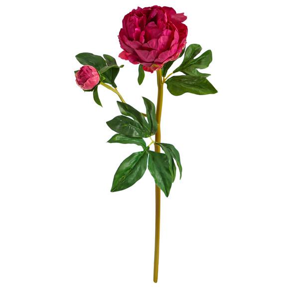22 Peony Artificial Flower Set of 3 - SKU #2381-S3 - 3