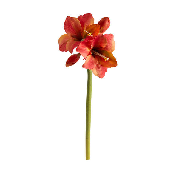 31 Amaryllis Artificial Flower Set of 3 - SKU #2383-S3 - 6