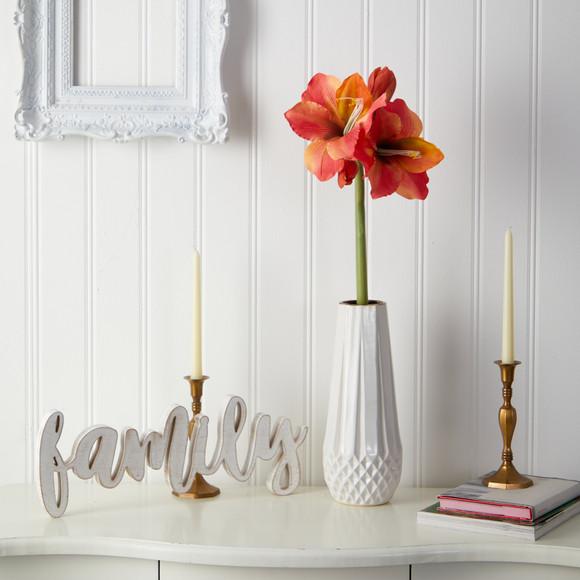 31 Amaryllis Artificial Flower Set of 3 - SKU #2383-S3 - 8