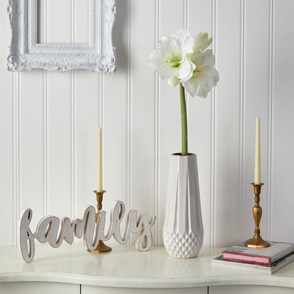 31 Amaryllis Artificial Flower Set of 3 - SKU #2383-S3 - 2