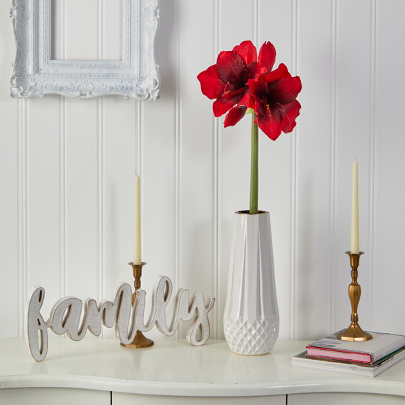 31 Amaryllis Artificial Flower Set of 3 - SKU #2383-S3 - 5