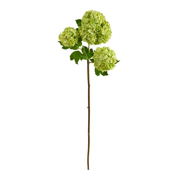 33 Snowball Hydrangea Artificial Flower Set of 2 - SKU #2384-S2-WW - 3
