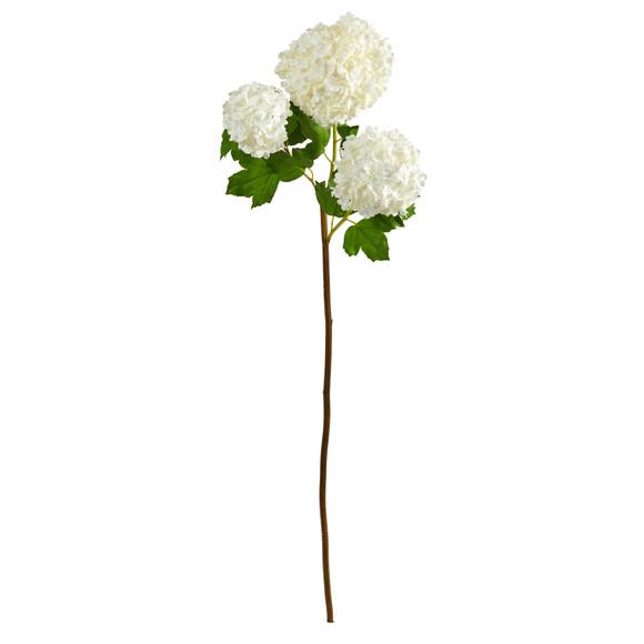 33 Snowball Hydrangea Artificial Flower Set of 2 - SKU #2384-S2-WW