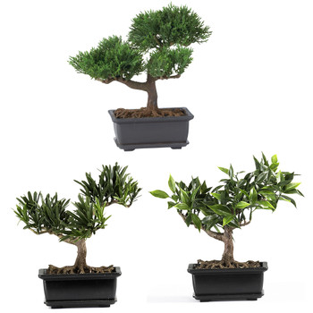 8.5 Bonsai Silk Plant Collection Set of 3 - SKU #4122