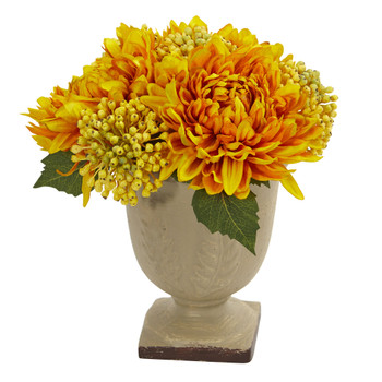 Mum Artificial Arrangement - SKU #4177-YL