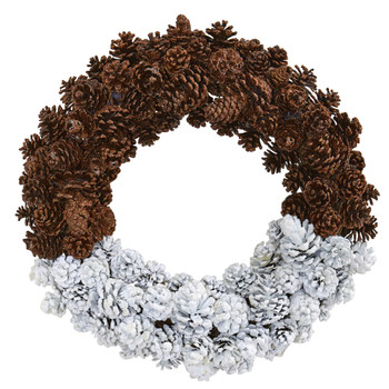 20 Frosted Pine Cone Wreath - SKU #4181