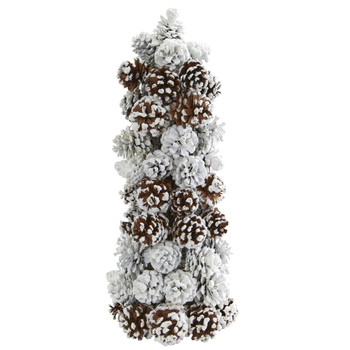 Frosted Pine Cone Tree - SKU #4183