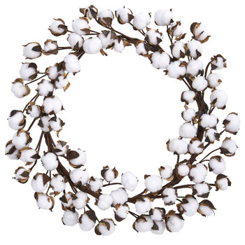 20 Cotton Ball Wreath - SKU #4190