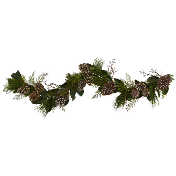 6 Pine Cone and Pine Artificial Garland - SKU #4199