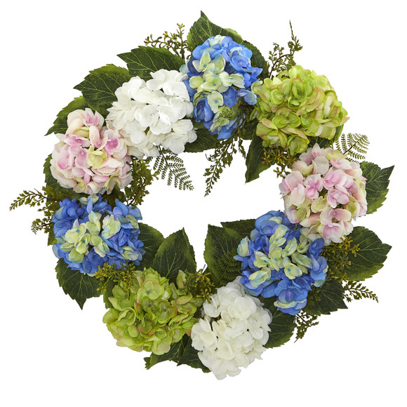 24 Hydrangea Wreath - SKU #4207