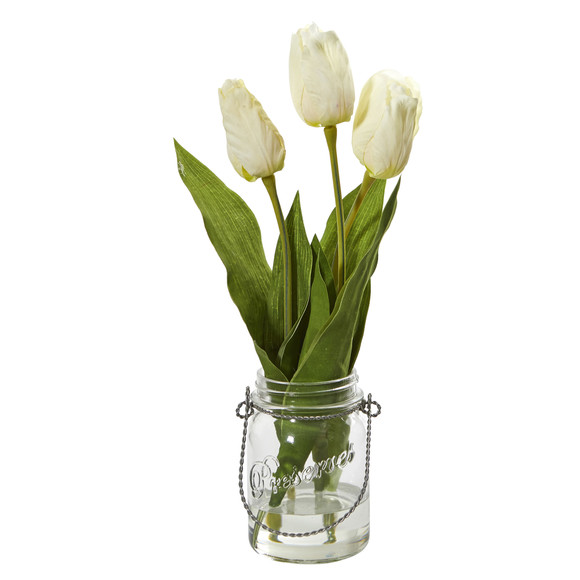 Tulip Artificial Arrangement in Jar set of 2 - SKU #4211-S2 - 1