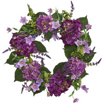 24 Hydrangea Wreath - SKU #4213