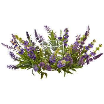 Lavender Artificial Arrangement Candelabrum - SKU #4216