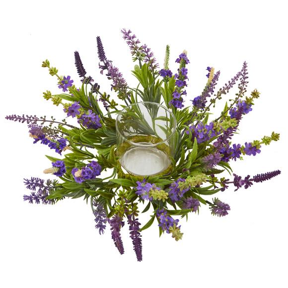 Lavender Artificial Arrangement Candelabrum - SKU #4216 - 1