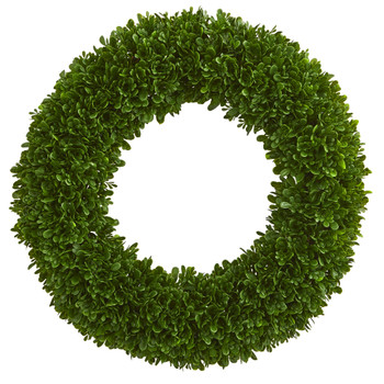 19.5 Tea Leaf Wreath UV Resistant Indoor / Outdoor - SKU #4220