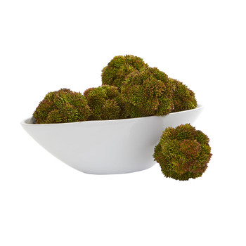 4 Sedum Artificial Succulent Artificial Spheres Set of 6 - SKU #4221-S6