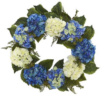 24 Hydrangea Wreath - SKU #4223
