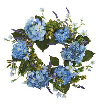 24 Hydrangea Wreath - SKU #4224
