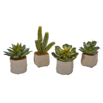 Mixed Succulent Artificial Plant Set of 4 - SKU #4228-S4