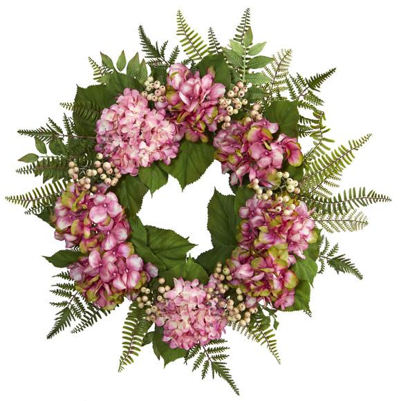 24 Hydrangea Berry Wreath - SKU #4229