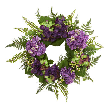 24 Hydrangea Berry Wreath - SKU #4230