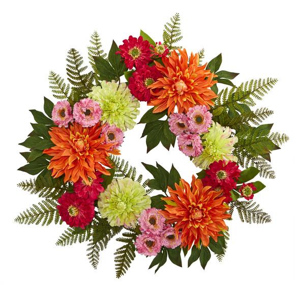 20 Dahlia Wreath - SKU #4236