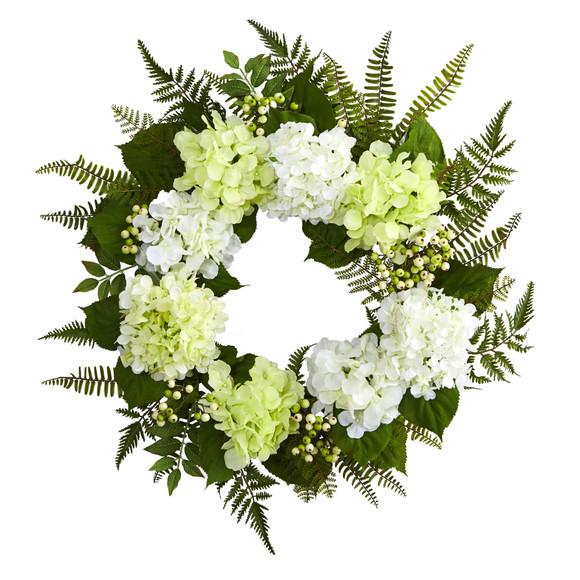 24 Hydrangea Berry Wreath - SKU #4238