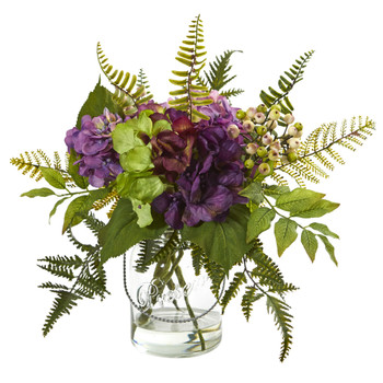 14 Hydrangea Berry Artificial Arrangement - SKU #4239