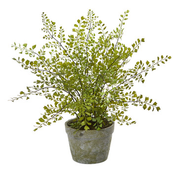 Maiden Hair Artificial Plant in Decorative Planter - SKU #4251