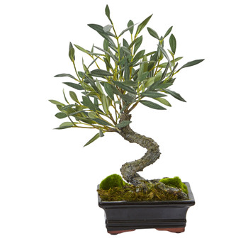 Mini Olive Artificial Bonsai Tree - SKU #4253