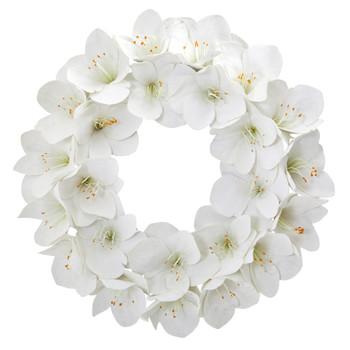 24 Amaryllis Artificial Wreath - SKU #4257