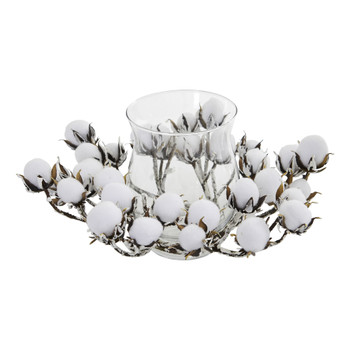 Cotton Artificial Arrangement Candelabrum - SKU #4259