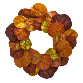 29 Fiddle Leaf Artificial Wreath - SKU #4274