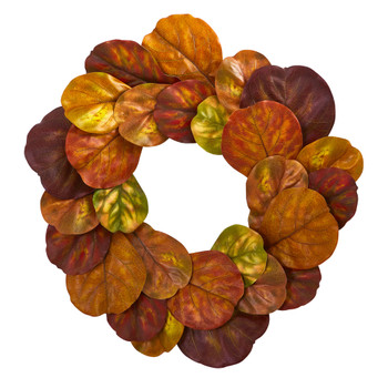 29 Fiddle Leaf Artificial Wreath - SKU #4274